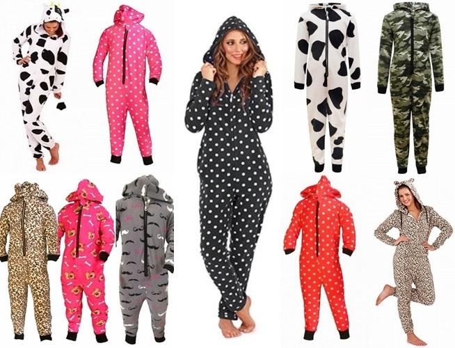 Kids Onesie Girls Boys Toddler All in One Jumpsuit Soft Fleece Pyjamas Ages 3 13